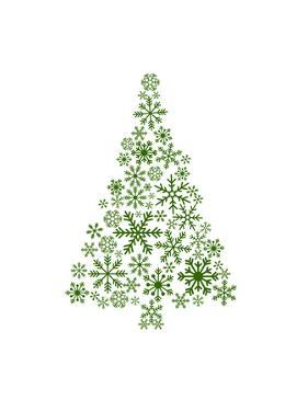 Green Snowflake Tree by Jetty Printables