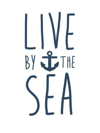 Navy Live By The Sea by Jetty Printables
