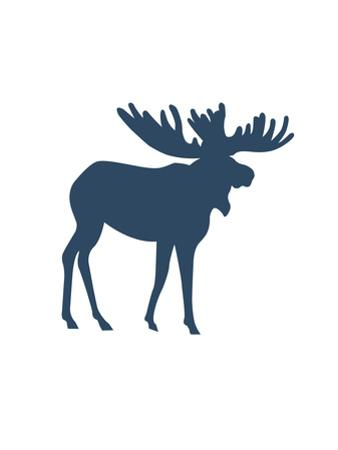 Navy Moose Moose by Jetty Printables