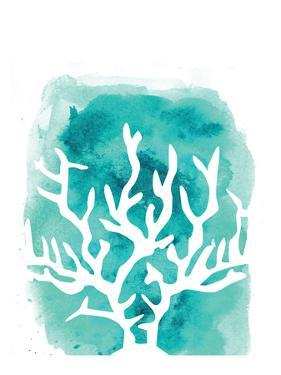 Watercolor Aqua Coral by Jetty Printables