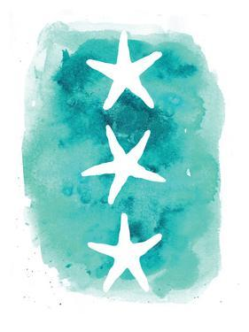 Watercolor Aqua Starfish 3 by Jetty Printables
