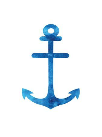 Watercolor Blue Anchor by Jetty Printables