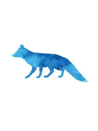 Watercolor Blue Fox by Jetty Printables