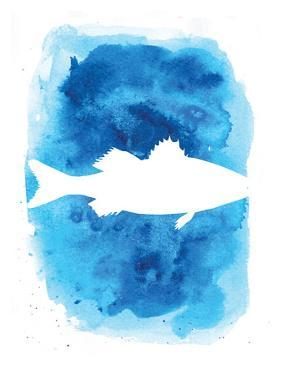 Watercolor Blue Sea Bass by Jetty Printables