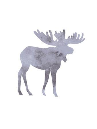 Watercolor Gray Moose by Jetty Printables