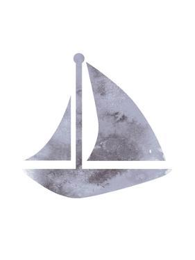 Watercolor Gray Sailboat by Jetty Printables