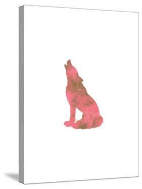Watercolor Pink Wolf by Jetty Printables