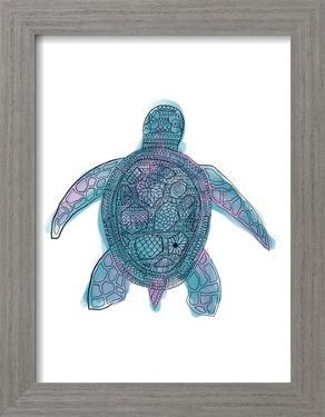 Watercolor Sea Turtle by Jetty Printables
