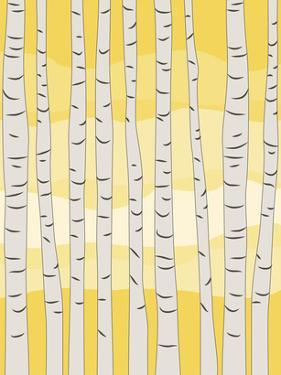 Yellow Birch Trees by Jetty Printables
