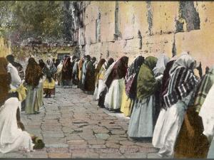 Jewish Women at the Wailing Wall, Jerusalem