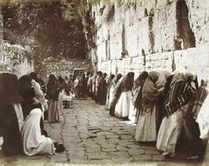 Jews At The Wailing Wall In Jerusalem