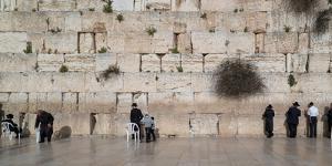 Jews praying at Western Wall, Jerusalem, Israel