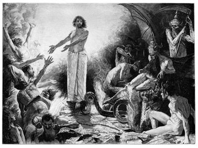 Christ in Hades, 1899 by JF Weber