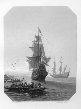 Abel Tasman, 17th Century Dutch Seafarer, Explorer, and Merchant, C1870 by JH Rennefeld