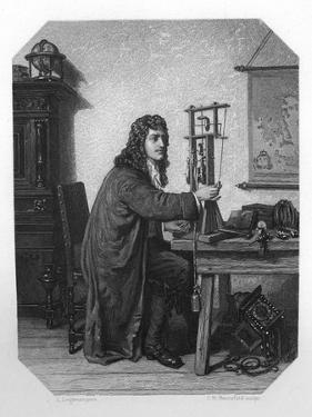 Christiaan Huygens, 17th Century Dutch Mathematician, Astronomer and Physicist, C1870 by JH Rennefeld