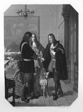 Handshake Between Cornelis Tromp and Michiel De Ruyter, 17th Century by JH Rennefeld