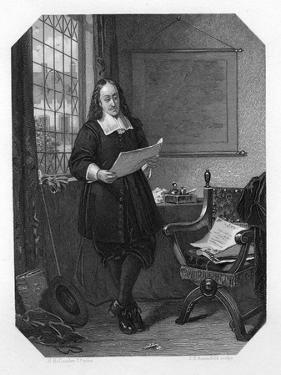 Johan De Witt, Dutch Statesman, 1654 by JH Rennefeld
