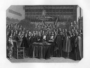The Swearing of the Oath of Ratification of the Treaty of Münster, 1648 by JH Rennefeld