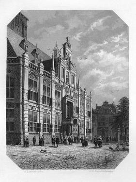 The Town Hall at Delft, Netherlands, 1620 by JH Rennefeld
