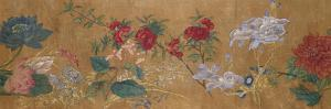 Sprays of Blossoming Prunus, Chrysanthemums, Peonies, Hydrangea, Lotus, Further Flowers and Foliage by Jiang Tingzi (After)