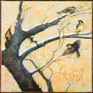 Winter Birds by Jill Barton