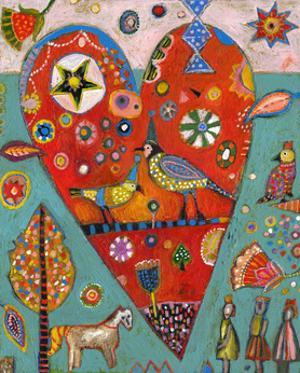Love Birds Heart by Jill Mayberg