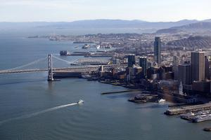 An Aerial View of San Francisco and the Bay Bridge by Jill Schneider