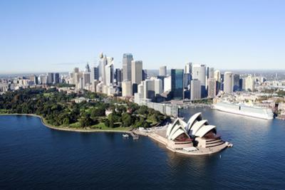 An Aerial View of Sydney with the Opera House by Jill Schneider