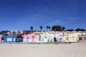 Colorful Cottage on the Beach of Capitola, California, USA by Jill Schneider