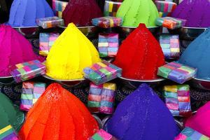 Colorful Dye for Sale at a Local Market in Fort Kochi by Jill Schneider