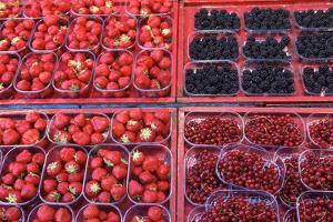 High Angle View of Berries for Sale in Stockholm by Jill Schneider