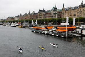 High Angle View of People Kayaking in Stockholm by Jill Schneider