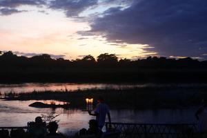 Sunset in Chitwan National Park by Jill Schneider