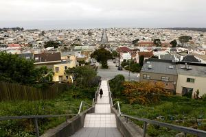 The 16th Avenue Tiled Steps in San Francisco, California, USA by Jill Schneider