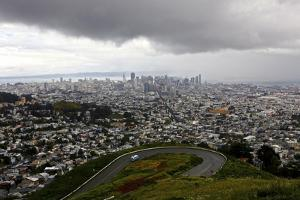 View of a Storm Approaching San Francisco from the Top of Twin Peaks by Jill Schneider