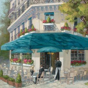 French Blue Café 1 by Jill Schultz McGannon