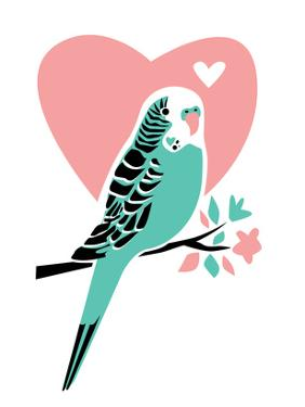 Parakeet-3 by Jilly Jack Designs
