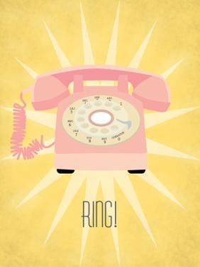 Vintage_Telephone by Jilly Jack Designs