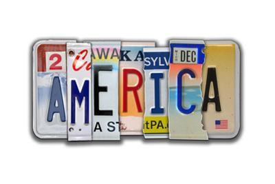 America License Plate by Jim Baldwin