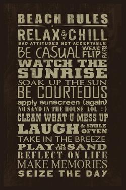 Beach Rules by Jim Baldwin