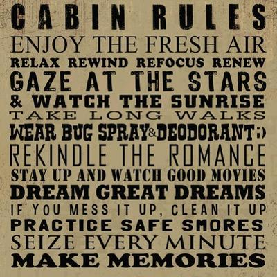 Cabin Rules by Jim Baldwin