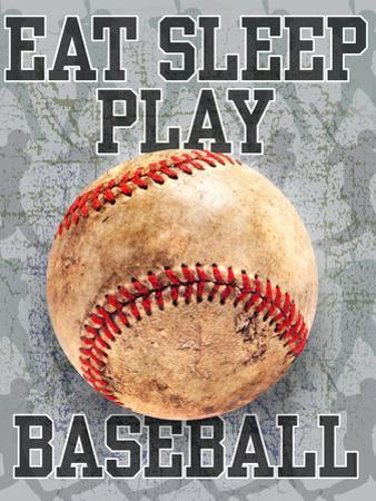Eat Sleep Play Baseball by Jim Baldwin