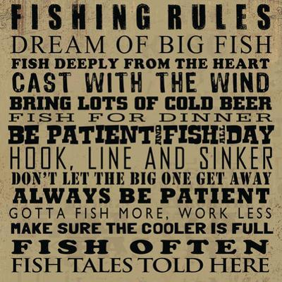 Fishing Rules by Jim Baldwin
