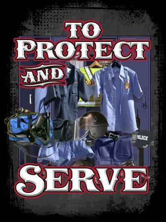 Protect and Serve by Jim Baldwin