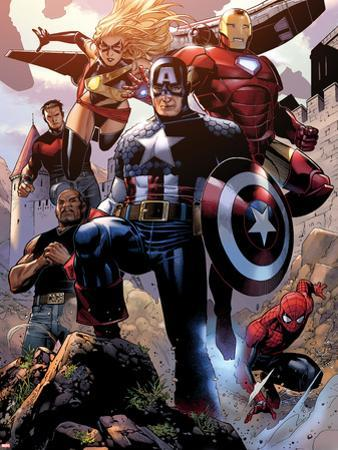 Avengers: The Childrens Crusade No.4: Captain America, Ms. Marvel, Iron Man, Spider-Man and Others by Jim Cheung