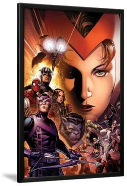 Avengers: The Childrens Crusade No.6 Cover: Scarlet Witch, Hawkeye, Beast, Spider-Man, and Others by Jim Cheung