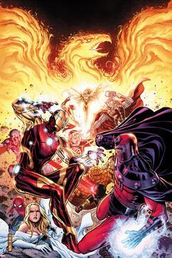 Avengers vs X-Men No.2: Iron Man, Magneto, Thor, and Hope Summers by Jim Cheung