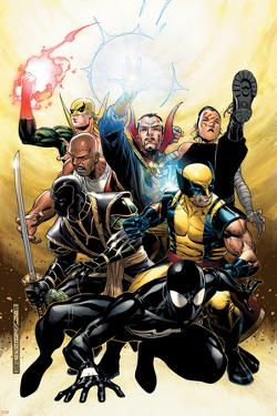 New Avengers Annual No.2 Cover: Spider-Man, Wolverine, Ronin and Dr. Strange by Jim Cheung