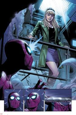 The Clone Conspiracy #1 Panel Featuring Gwen Stacy, Spider-Man by Jim Cheung