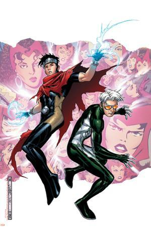Young Avengers Presents No.3 Cover: Wiccan and Speed by Jim Cheung